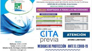 información de contacto y precios de la piscina cubierta